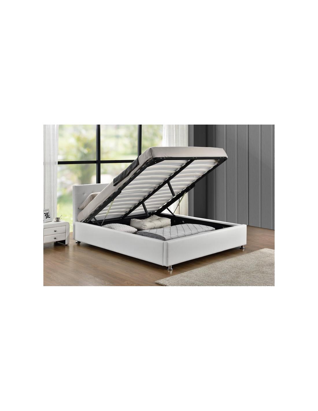 lit avec coffre de rangement blanc santos le lit santos est un