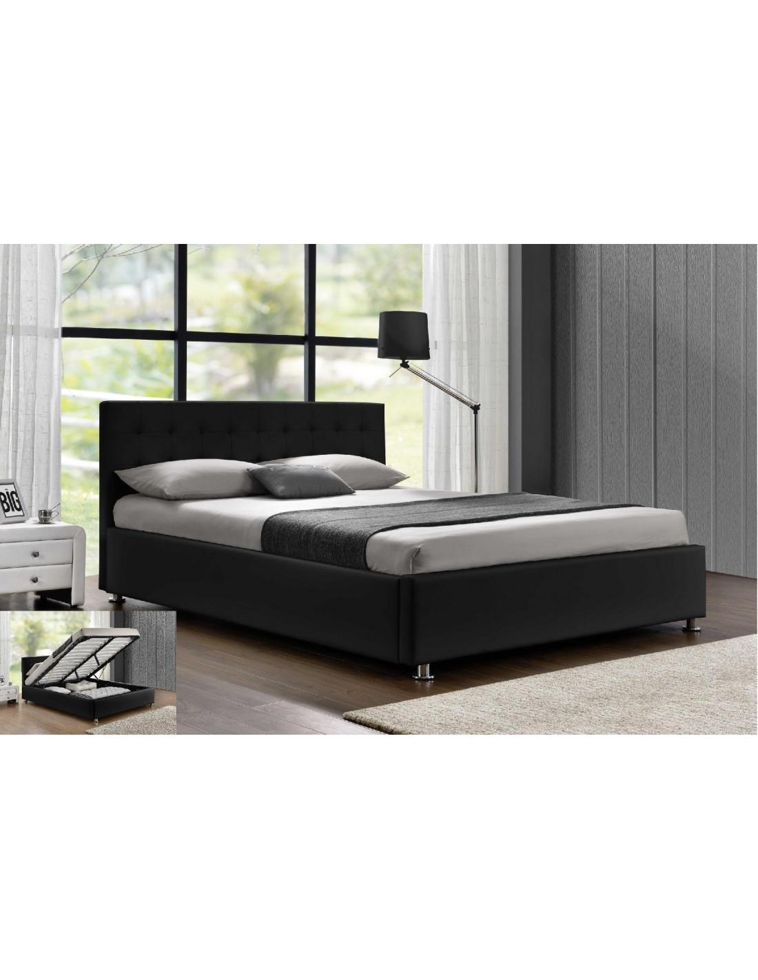 lit avec coffre de rangement noir santos le lit santos est un