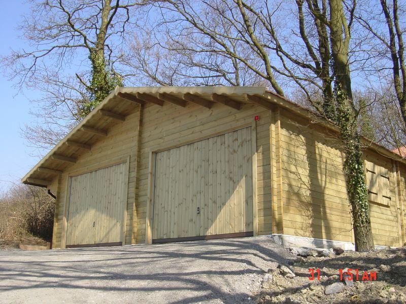 prix garage bois toit plat vente