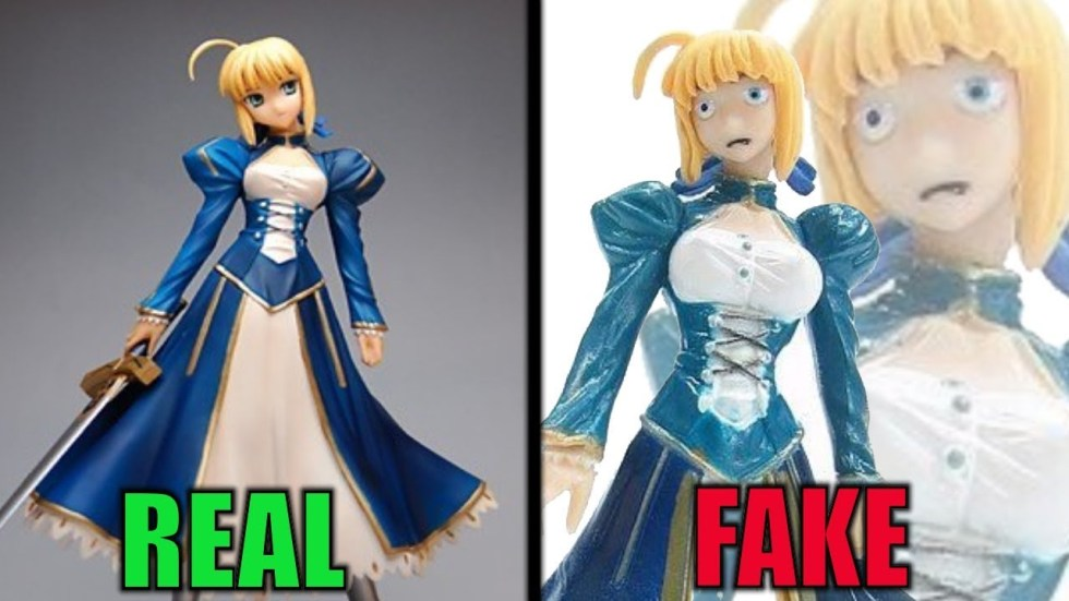fate saber, fake anime figurine