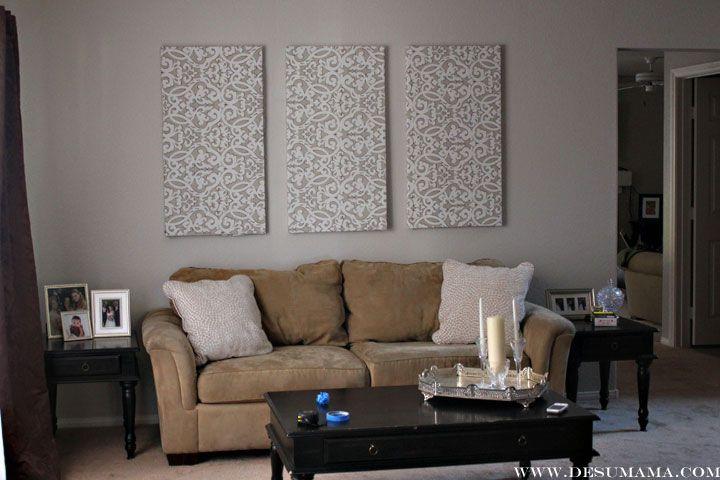 Diy Fabric Wall Panels - De Su Mama