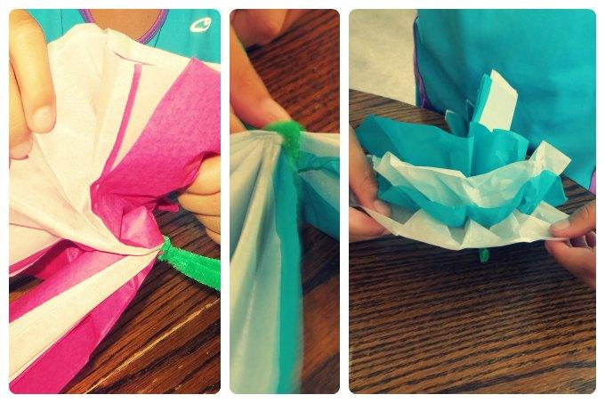 Paper flowers tutorial - step by step