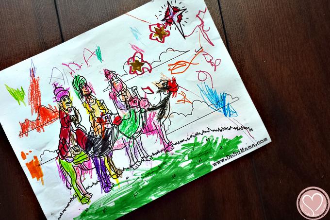 three kings printable, tres reyes mago, meaning of christmas, free christmas printable, preschool christmas printable