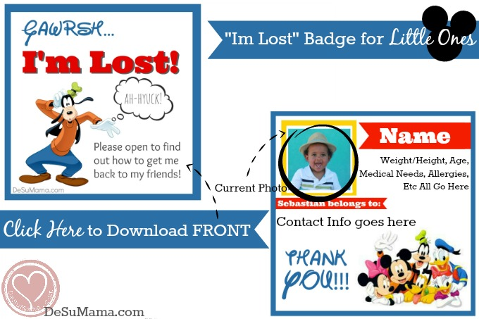theme park safety, disneyland safety, lost kids at disneyland, free printable, walmart moms