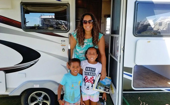Hispanic Family Attends RV Show For First Time