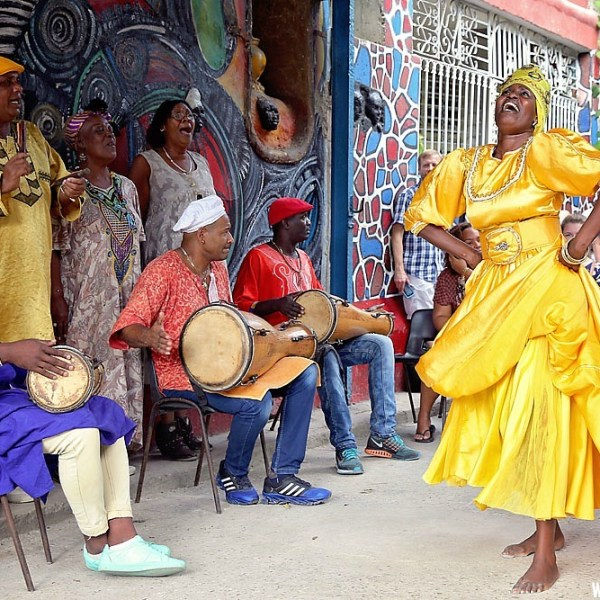 Callejon de Hamel in Havana, Cuba: Traditional Cuban Culture
