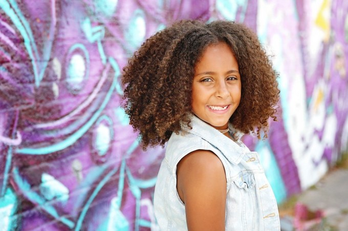a 7 year-old's first mixed curly haircut!