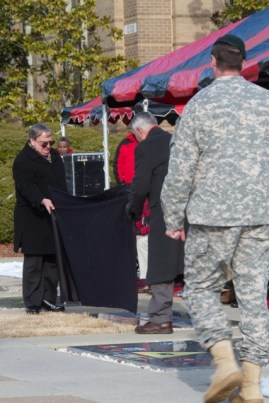 Unveiling of the DET-A Memorial Stone - Jimmy Spoo and MG Shachnow(Ret)