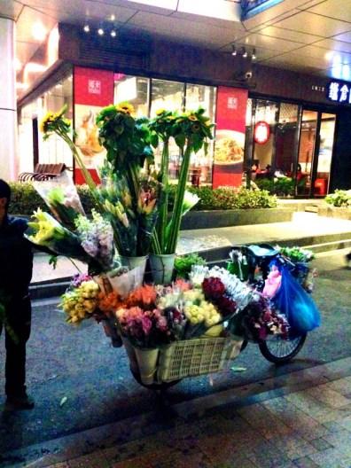 Blumenmotorrad Shanghai