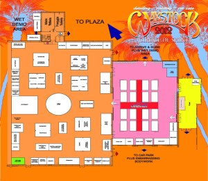 The floorplan for Waxstock 2012