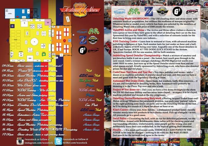 The floorplan for Waxstock 2013