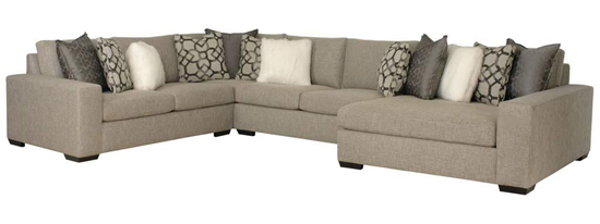 Oversized Greige Sectional Sofa - Details Full Service Interiors - Interior Decorating in MA