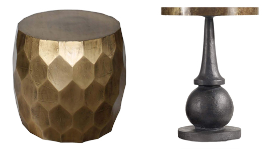 Black and Gold Fun Modern End Table - Details Full Service Interiors - Interior Design in Hampden County
