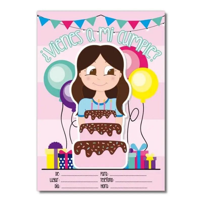 carte d invitation pour anniversaire jeune fille