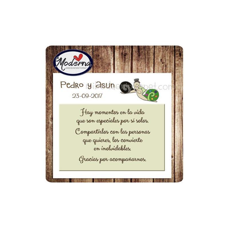 Tarjeta de agradecimiento Boda - B640154