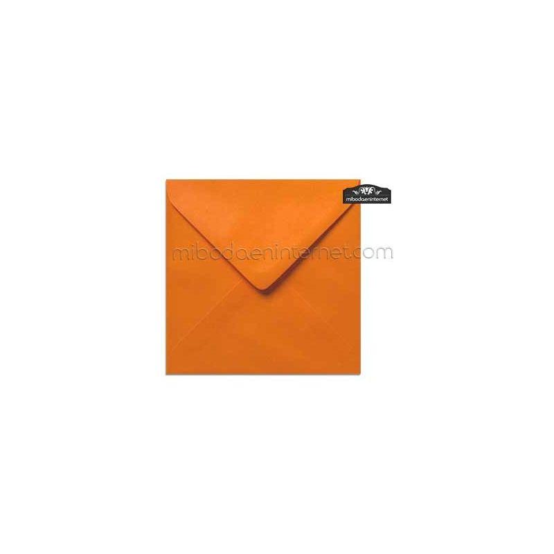 Sobre Cuadrado 15,5 Color Naranja - SWQC35