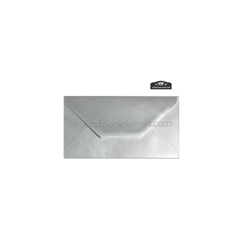 Sobre Americano Color Metalizado Plata - SWAC05