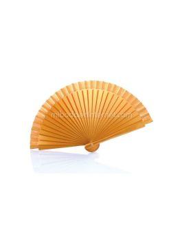 Abanico de Madera Liso Oro