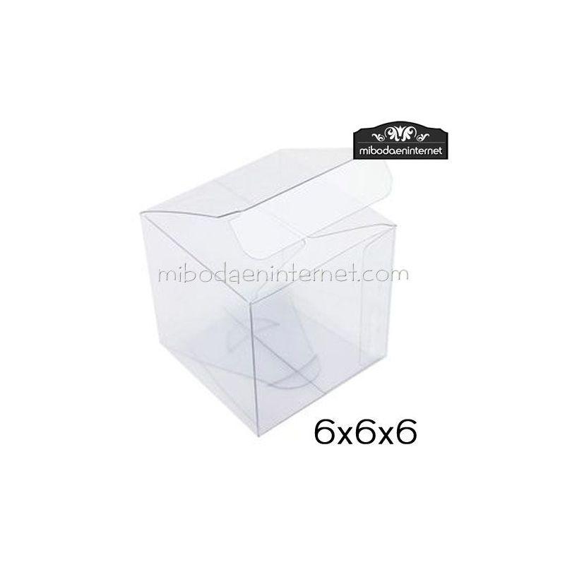 Caja acetato transparente cuadrada 6 cms