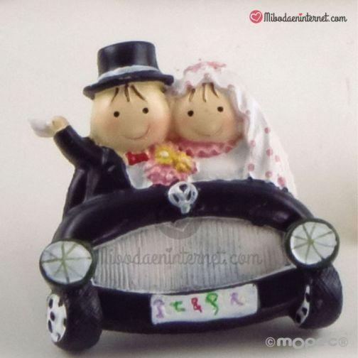 Imán boda coche Pit & Pita