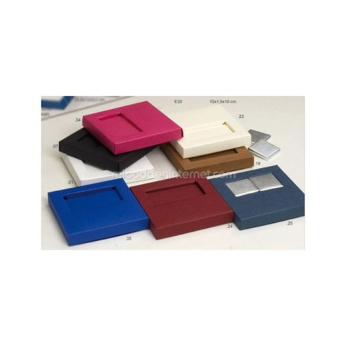 Caja 2 Napolitanas Color Liso 10x1.5x10 cm