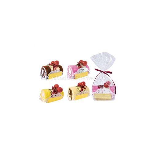 Dulce Tronco de pastel toalla en bolsita de regalo