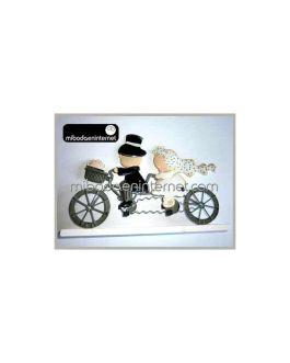 Figura Pastel Pit & Pita Bicicleta Metal