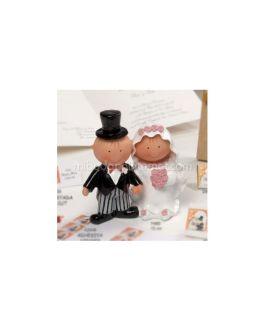 Figura pastel Pit & Pita Novios de la mano