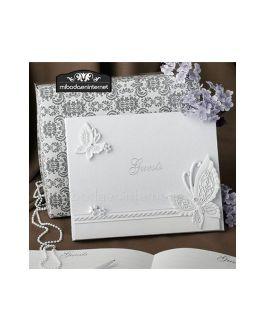 Libro Firmas  Mariposas en caja regalo