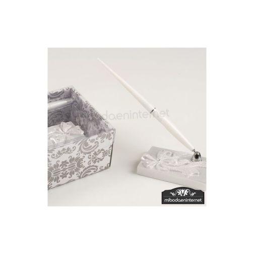 Bolígrafo Firmas en Peana Lazo