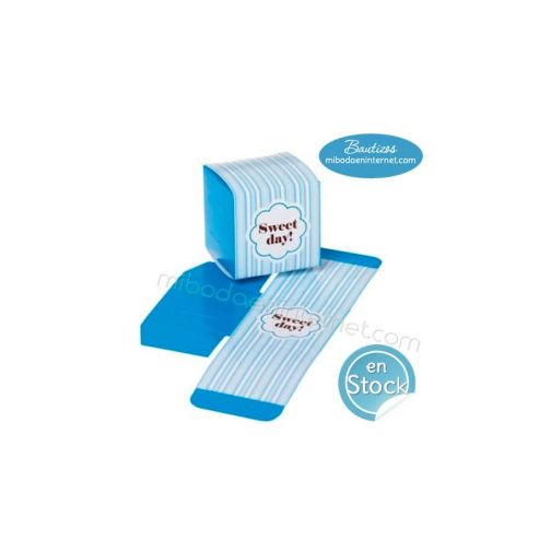 Caja Cubo Sweet Day Celeste 5 cms