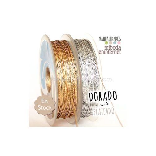 Cordón metalizado 2mm oro alta calidad-mts