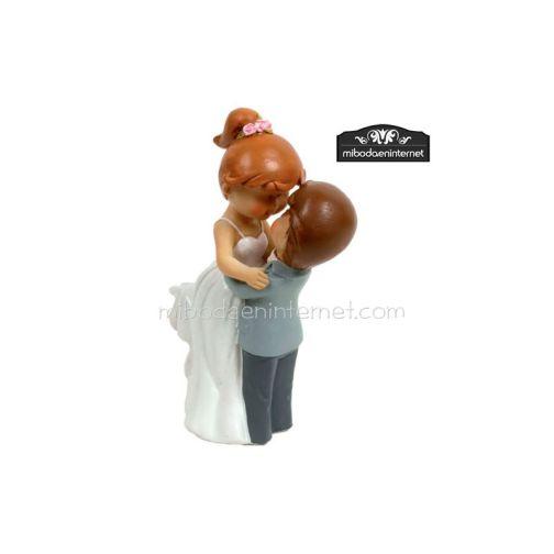 Figura Pastel Novios Mouflins Beso