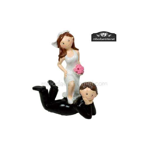 Figura Pastel Novios - Quedate aquí 16 cms