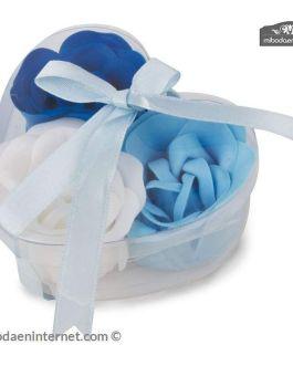 Estuche corazón Rosas Azules