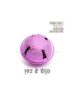 Cascabel metal grande púrpura estrellas