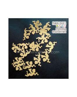 Confetti oro angeles 20 ud decoracion mesas