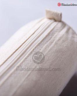 Bolsita Estuche Tela algodón con cremallera