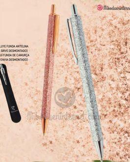 Bolígrafo Glitter Oro Rosado / Plata