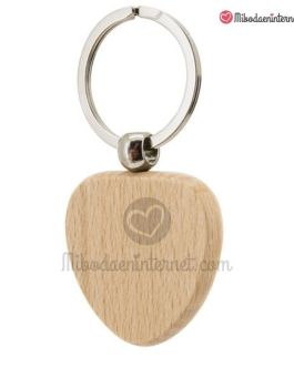 LLavero corazón madera
