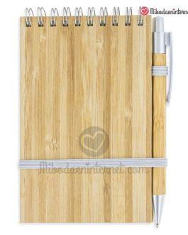 Bloc de Notas con bolígrafo Bambú