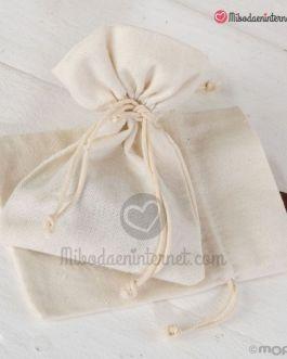 Bolsa algodón color Marfil 10×14 cms