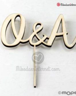 CakeTopper Madera Iniciales