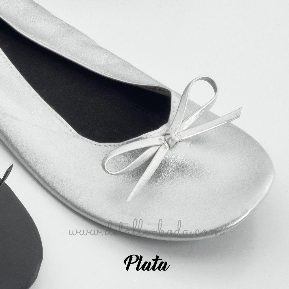 Bailarina para Boda enrrollable color plata