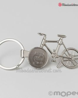 Llavero bicicleta metal
