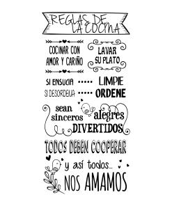 Reglas de la Cocina (Pajaritos) 15x15