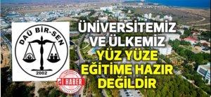EMU BİR-SEN: Το πανεπιστήμιο και η χώρα μας δεν είναι έτοιμα για πρόσωπο με πρόσωπο εκπαίδευση