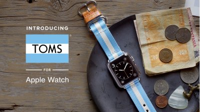 Upgrade your Apple Watch with a TOMS Watchband and give solar light to an African family