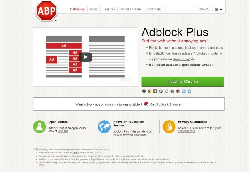Install Adblock Plus to remove annoying ads while you browse