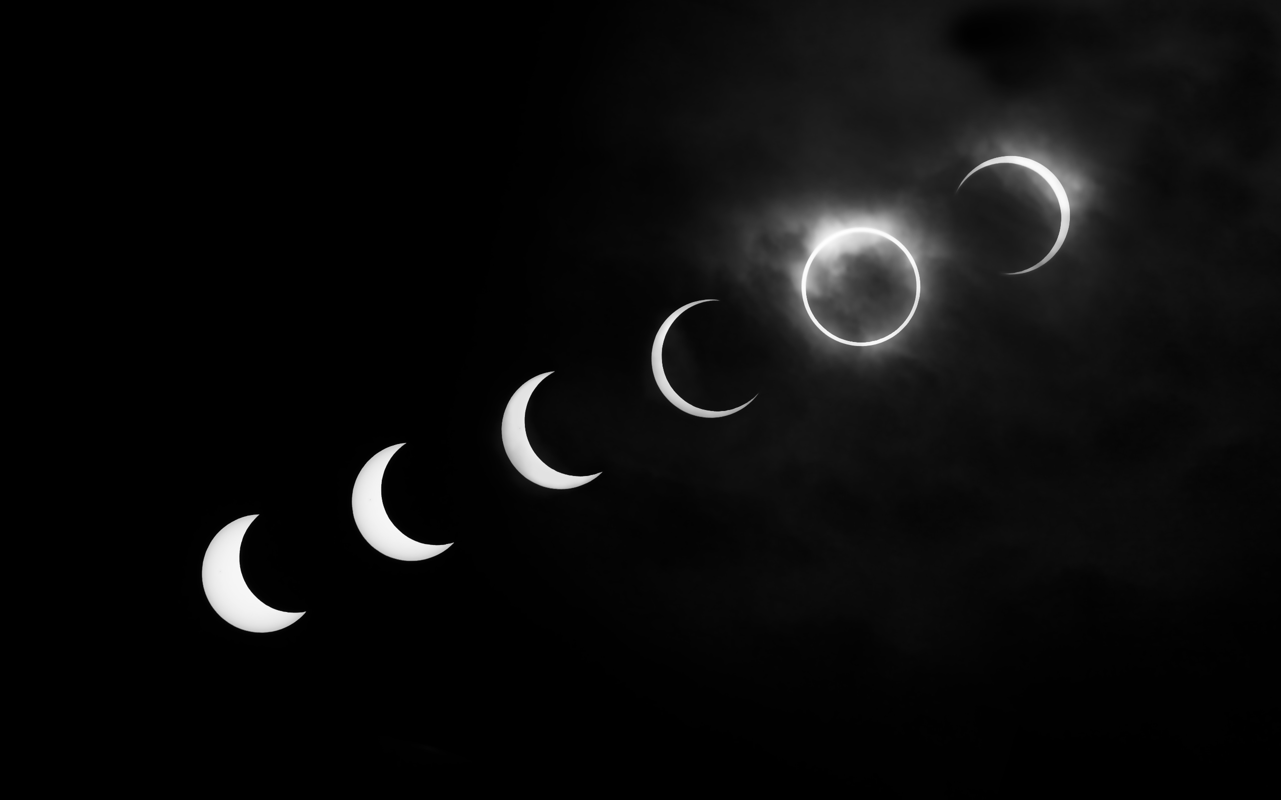 eclipse black and white deteched